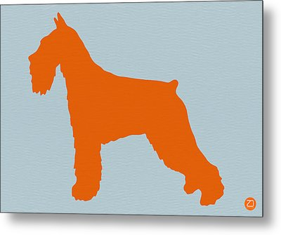 Standard Schnauzer Orange Metal Print by Naxart Studio