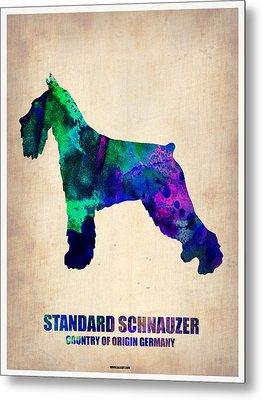 Standard Schnauzer Poster Metal Print by Naxart Studio
