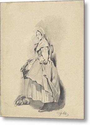 Standing Woman, Pieter Van Loon Metal Print