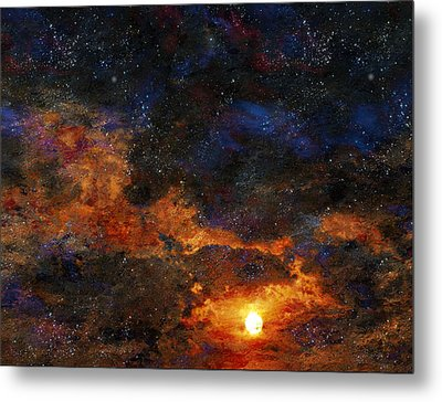 Starry Sunset Metal Print