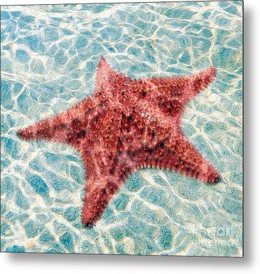 Stars In The Water Metal Print by Jon Neidert