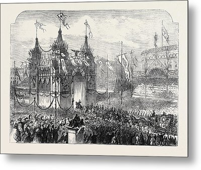 State Entry Into Berlin The King Passing Metal Print