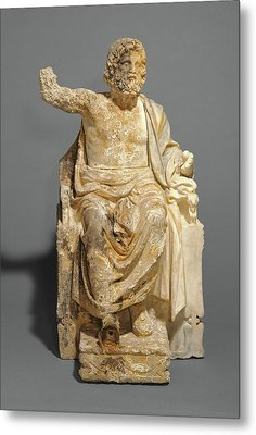 Statue Of Zeus Enthroned Unknown About 100 B Metal Print