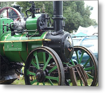 Steam Tractor Lives On Metal Print by Patricia Howitt