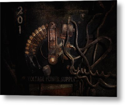 Steampunk - Electrical - Rotary Switch Metal Print