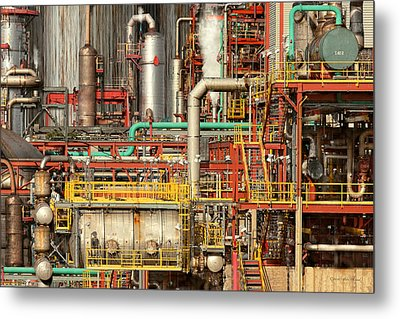 Steampunk - Industrial Illusion Metal Print by Mike Savad
