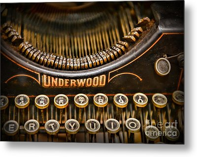 Steampunk - Typewriter - Underwood Metal Print by Paul Ward