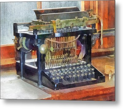 Steampunk - Vintage Typewriter Metal Print by Susan Savad