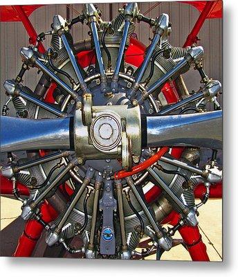 Stearman Engine Metal Print by Dale Jackson