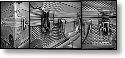 Metal Print featuring the photograph Steel Box - Triptych by James Aiken