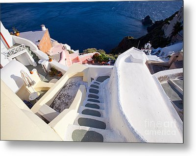 Steep Down Stairs Metal Print by Aiolos Greek Collections