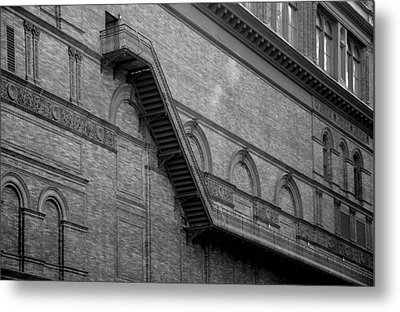 Steps On 7th Avenue  - New York Metal Print by Marianna Mills