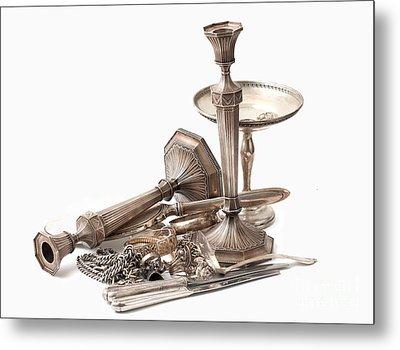 Sterling Silver  Metal Print by Gunter Nezhoda