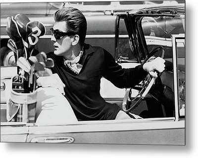 Steve Holland In A Chrysler New Yorker Metal Print