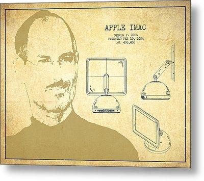 Steve Jobs Imac  Patent - Vintage Metal Print