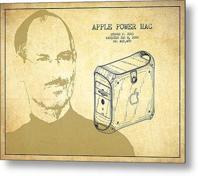 Steve Jobs Power Mac Patent - Vintage Metal Print