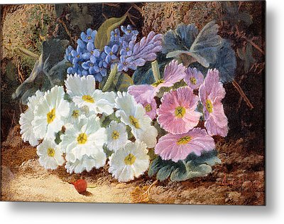 Still Life Of Flowers Metal Print by Oliver Clare