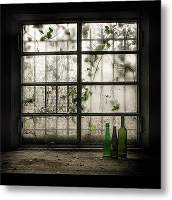 Still-life With Glass Bottle Metal Print