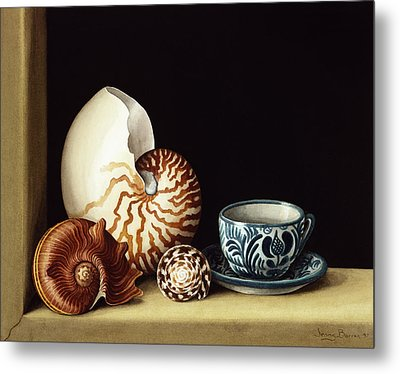 Still Life With Nautilus Metal Print by Jenny Barron
