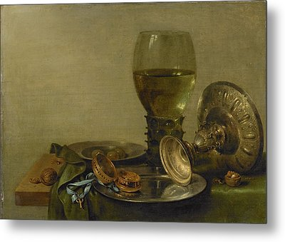 Still Life With Roemer And Silver Tazza Metal Print