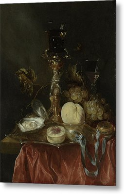 Still Life With Silver-gilt Bekerschroef With Roemer Metal Print