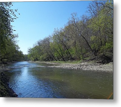 Metal Print featuring the digital art Still Water River by Eric Switzer