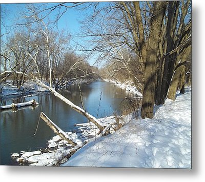 Metal Print featuring the photograph Still Water River Winter by Eric Switzer