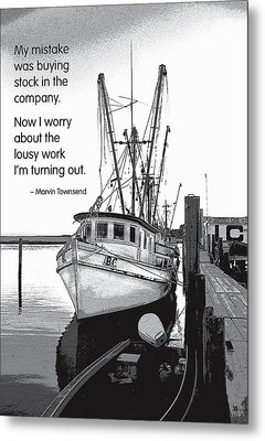 Stock In The Company Metal Print by Mike Flynn
