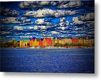 Stockholm Experimental Hdr Metal Print by Ramon Martinez