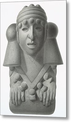 Stone Idol Of The Rain God Cocijo Metal Print