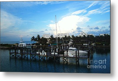 Stop In Metal Print by Alison Tomich