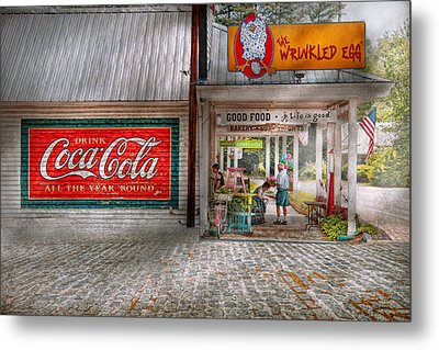 Store Front - Life Is Good Metal Print by Mike Savad