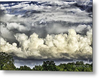 Storm Clouds Over Mountain Metal Print by Thomas R Fletcher