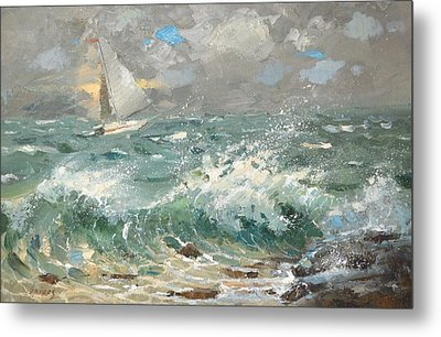 Metal Print featuring the painting Storm by Dmitry Spiros