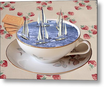 Storm In A Teacup Metal Print