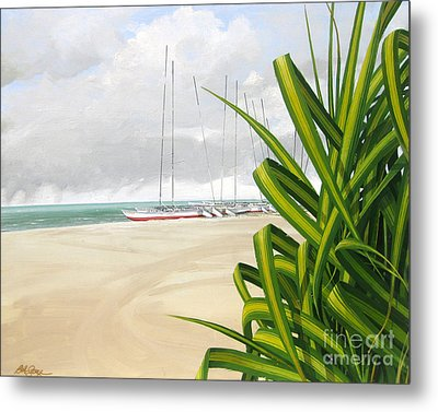 Metal Print featuring the painting Storm Rolling In by Bob  George