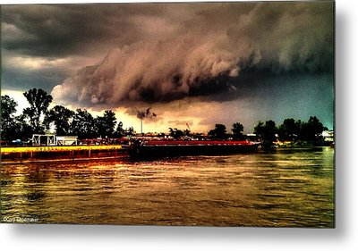 Storm Rolling In Metal Print by Cory Shoemaker