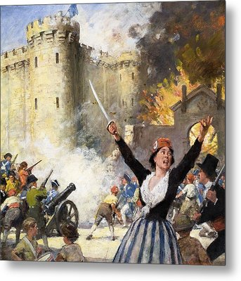 Storming The Bastille Metal Print by English School