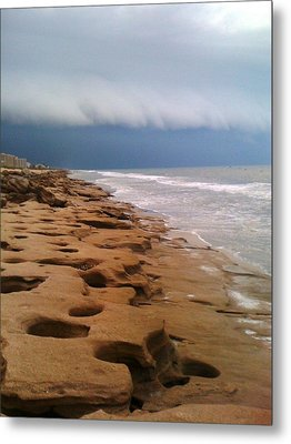 Stormy Coquina Metal Print by Julie Wilcox