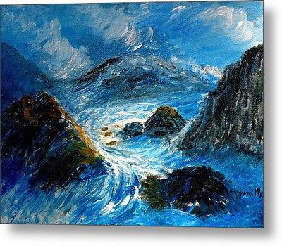 Stormy Sea Metal Print by Mauro Beniamino Muggianu