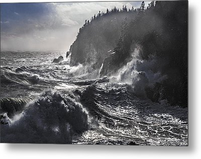Stormy Seas At Gulliver's Hole Metal Print by Marty Saccone