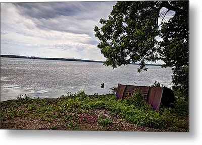 Stormy Shores Metal Print