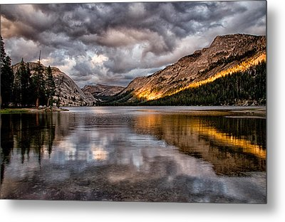 Stormy Sunset At Tenaya Metal Print by Cat Connor