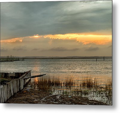 Metal Print featuring the photograph Stormy Sunset by Dale Nelson