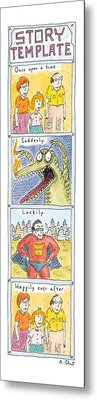 Story Template Metal Print by Roz Chast
