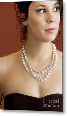 Strand Of Pearls Metal Print by Margie Hurwich