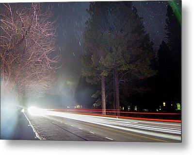 Street, Lights, And Stars Metal Print by Vwpics - Roberto Lopez