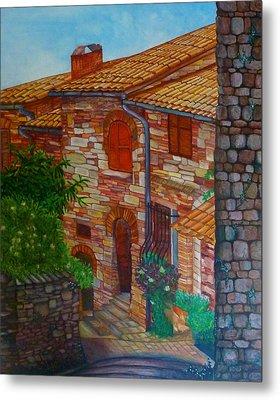Street Of Assisi Metal Print by Beata Dagiel