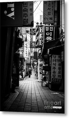 Street Of Signboard Metal Print by Yoo Seok Lee