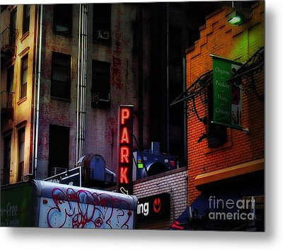 Graffiti And Grand Old Buildings Metal Print by Miriam Danar